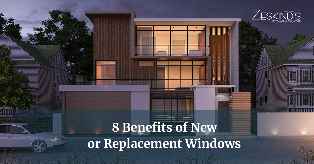 8 benefits of new or replacement windows